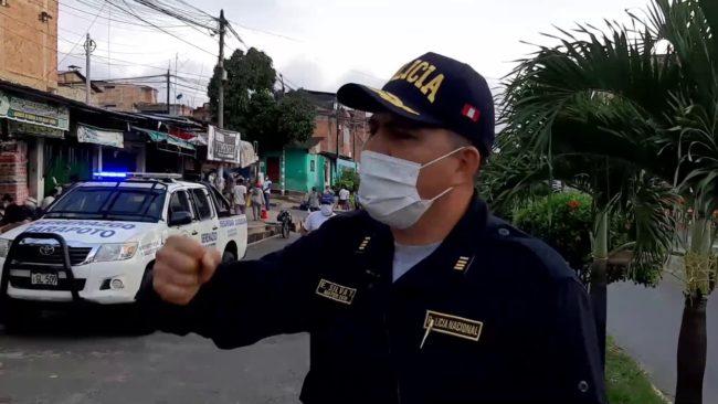 Tarapoto: operativo de la policía de tránsito en el barrio Comercio