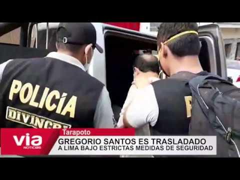 Tarpoto: Gregorio Santos es trasladado a Lima bajo estrictas medidas de seguridad