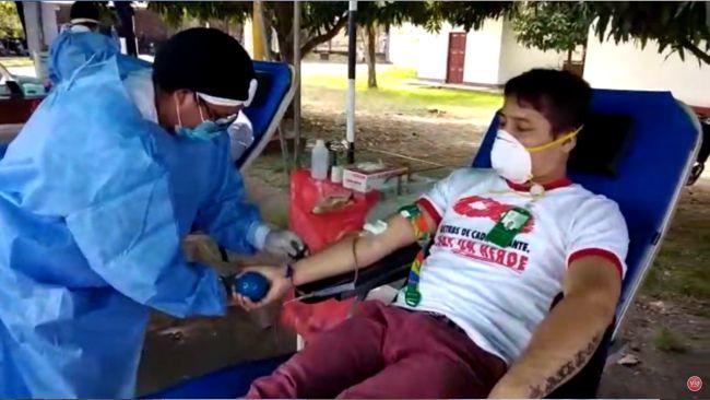 Realizan campaña de donación de sangre en Juanjui