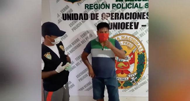 Tarapoto: capturan a presunto vendedor  de pasta básica de cocaína