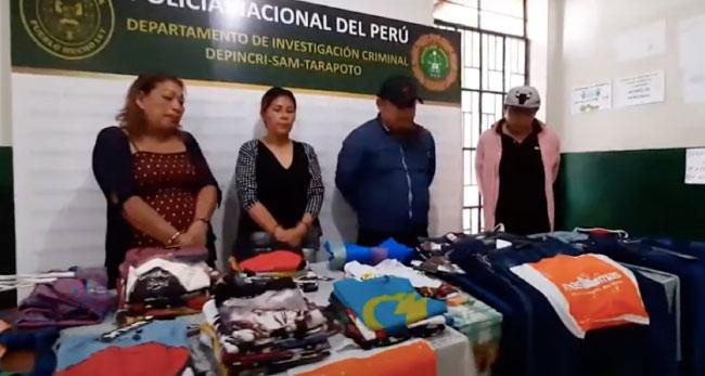 "Tarapoto: Divincri detiene a  presunta banda de ""tenderos"""