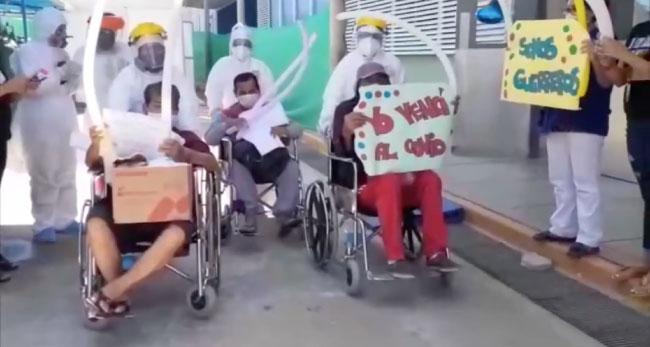 Tarapoto: varios pacientes covid del hospital de EsSalud fueron dados de alta
