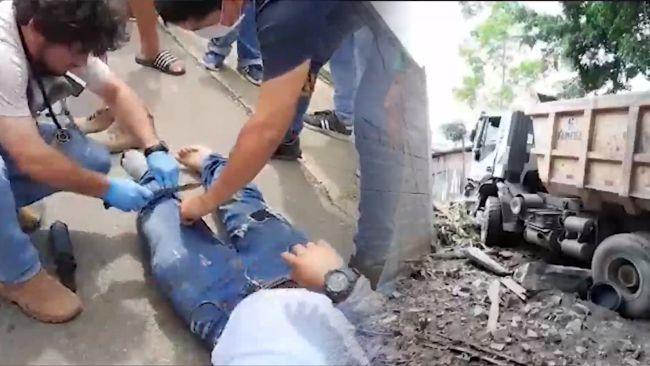 Volquete sufre desperfecto mecánico en carretera Tarapoto – Yurimaguas