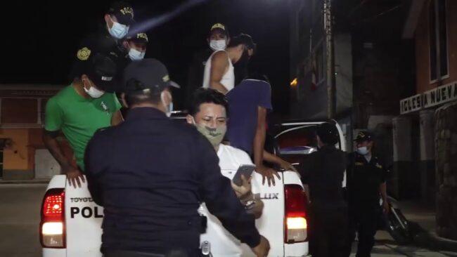 En Juanjui intervienen a personas que no respetan el estado de emergencia