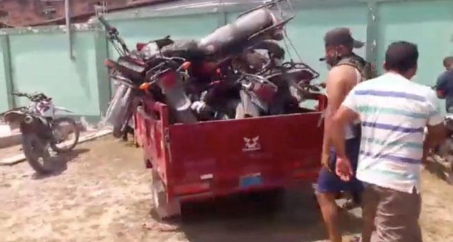 Comisaría de Picota recupera 10 motos que fueron hurtadas