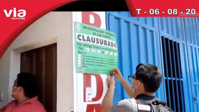 Titulares 06 de agosto del 2020 – VIA Noticias de Tarapoto