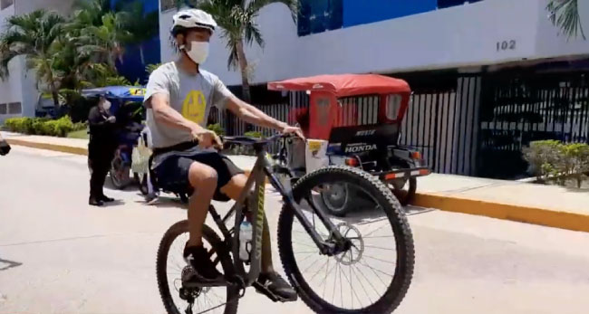 Ciclistas retoman actividades tras el  levantamiento de los domingo de inamovilidad