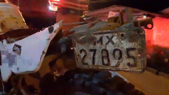 Conductor no se percató que moto lineal impactó con su camión