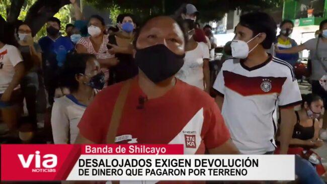 Desalojados exigen devolución  de dinero que pagaron por terreno