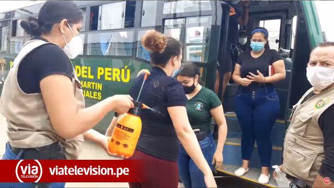 Tarapoto: realizan prueba de descarte de COVID-19 A extranjeros intervenidos