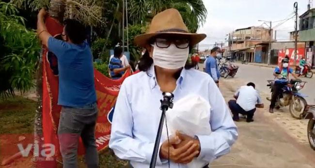Tarapoto: profesores protestan contra  la privatización de la educación