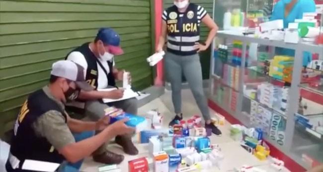 Intervienen dos boticas e incautan medicamentos valorizados en más de 53 mil soles