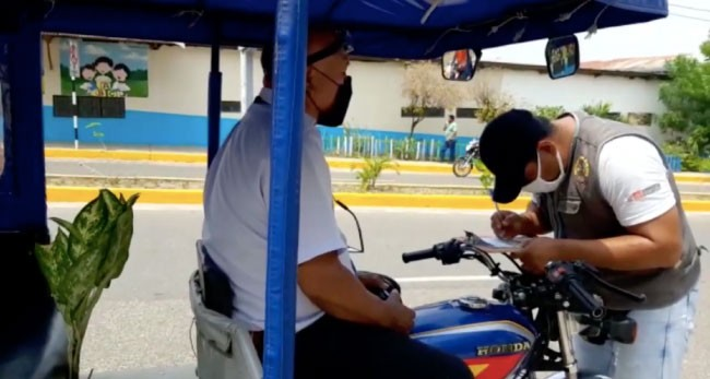 Inician operativos para detectar a  motocarristas sin habilitación vehicular