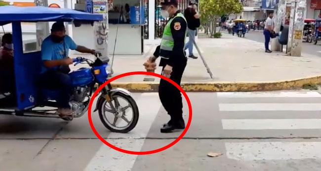 Tarapoto: imponen papeletas por no respetar señalizaciones de tránsito