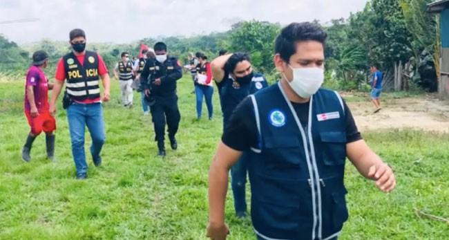 Policía nacional rescata a poblador shawi herido de bala en enfrentamiento familiar