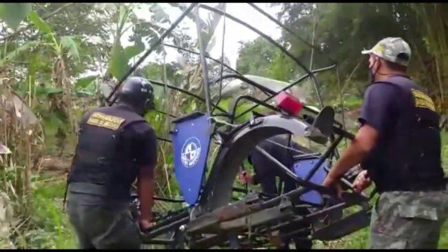 Vecinos de Chontamuyo ubican motocar desmantelado en terreno agrícola