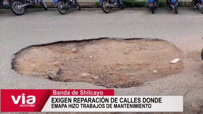 Exigen reparación de calles donde Emapa hizo trabajos de mantenimiento