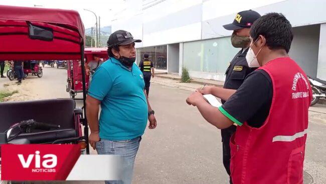 Morales: internan en depósito municipal a mototaxis informales