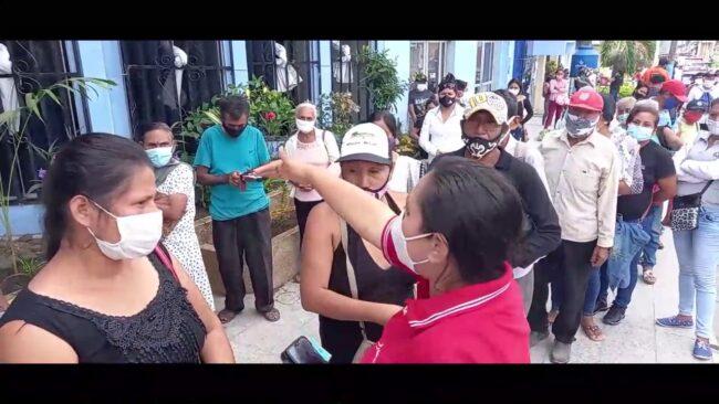 Morales: largas colas en los exteriores del Banco de la Nación desde la madrugada