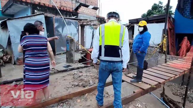 Morales: restablecen ingreso a viviendas y remueven escombros