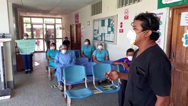 Morales: trabajadores de salud acatan huelga nacional indefinida