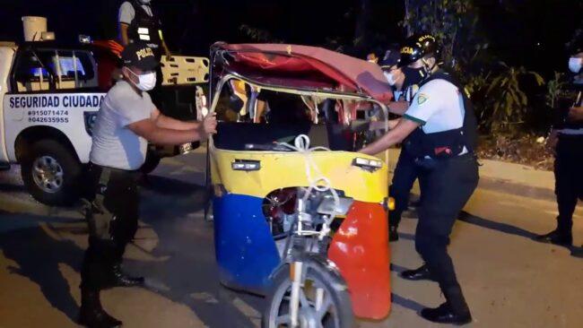 Tarapoto: mototaxista resulta herido tras despiste de vehículo