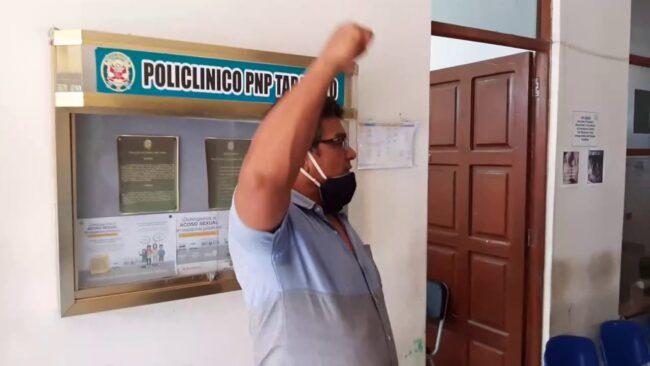 Tarapoto: policías en retiro protestan  por falta atención en Salupol