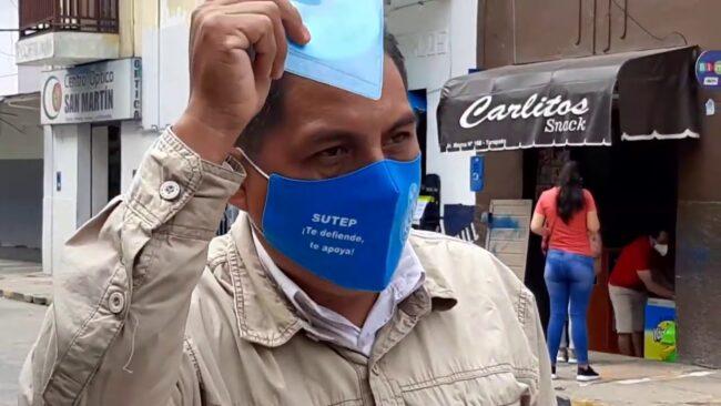 Tarapoto: secretario regional del Sutep solicita  garantías personales para él y otros dirigentes