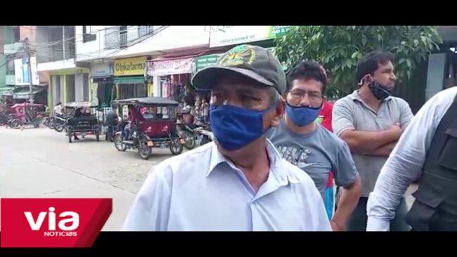Tarapoto: ambulante solicitan permiso para vender sus productos en las calles