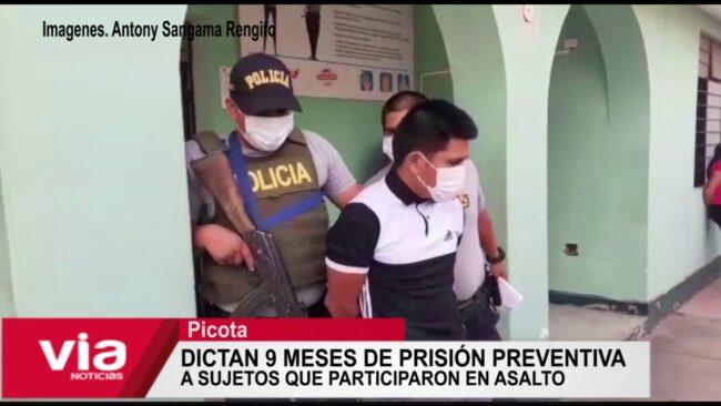 Dictan 9 meses de prisión preventiva a sujetos que participaron en asalto