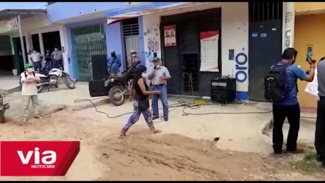 Población moyobambina protesta exigiendo el retiro de la OTASS