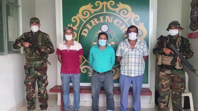 Policía Antidrogas de Tarapoto detiene a tres sujetos con látex de opio