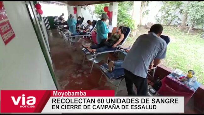 Recolectan 60 unidades de sangre  en cierre de campaña de Essalud