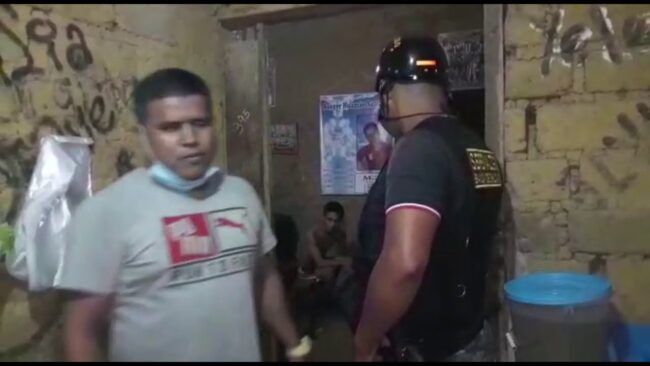 Serenos intervienen a joven  por hurto de teléfono celular en La Banda de Shilcayo