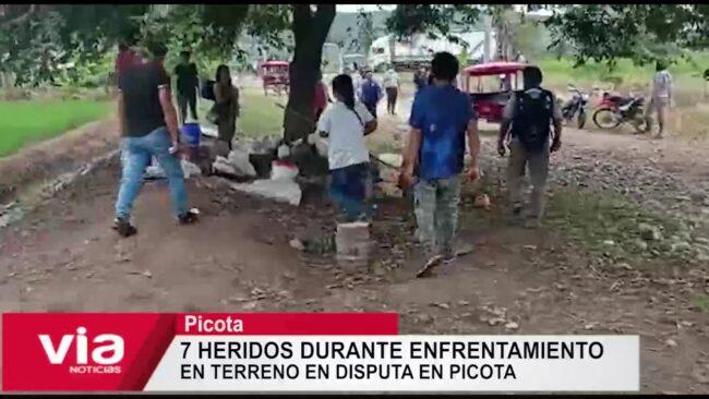 7 heridos durante enfrentamiento  en terreno en disputa en Picota