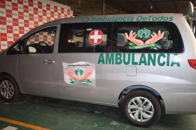 Tarapoto: ambulancia donada se encuentra en condiciones para prestar servicios