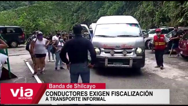 Conductores exigen fiscalización  a transporte informal
