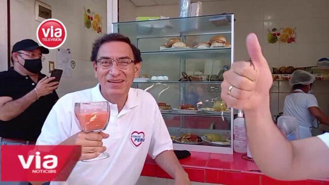 Ex Presidente Martín Vizcarra recorrió mercado dos de Tarapoto