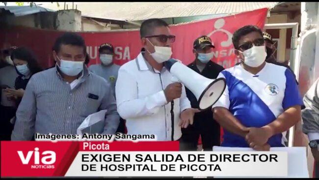 Exigen salida de director de hospital de Picota