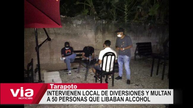 Intervienen local de diversiones y multan a 50 personas que libaban alcohol