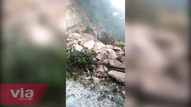 Lluvia ocasionó derrumbe en  carretera Tarapoto – Yurimaguas