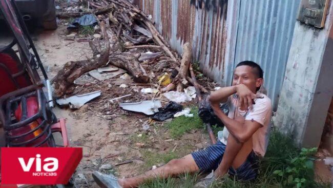 Tarapoto: detienen a presunto delincuente cuando desmantelaba mototaxi