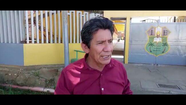Tarapoto: Director del colegio miguel Chuquisengo exige obra de alcantarillado