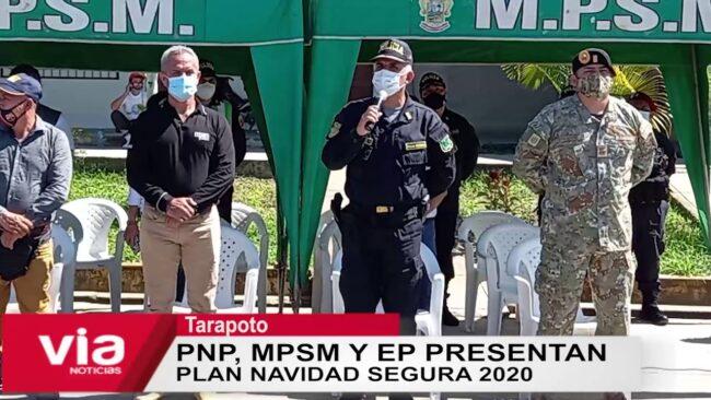 Tarapoto: PNP, MPSM y EP presentan  plan Navidad Segura 2020