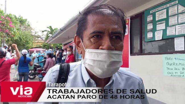 La Banda de Shilcayo: trabajadores de salud  acatan paro de 48 horas