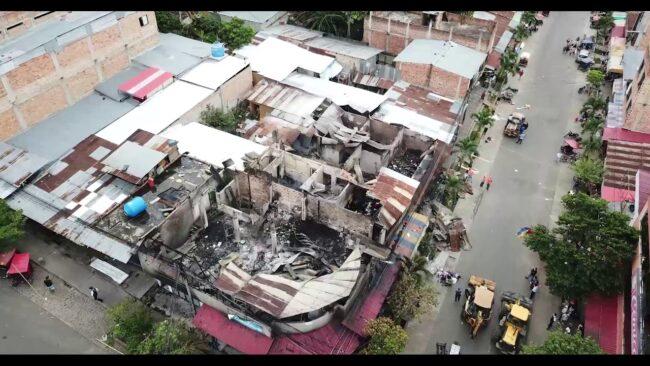 Drone de VIA Televisión muestra impactantes imágenes de incendio