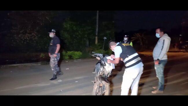Abandonan motocicleta hurtada a sereno de Tarapoto