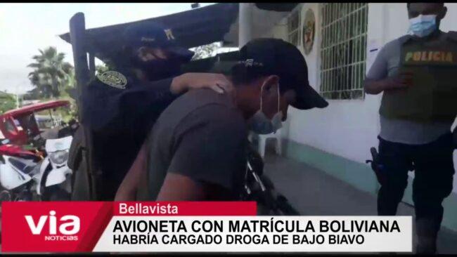 Avioneta con matrícula boliviana habría cargado droga del Bajo Biavo