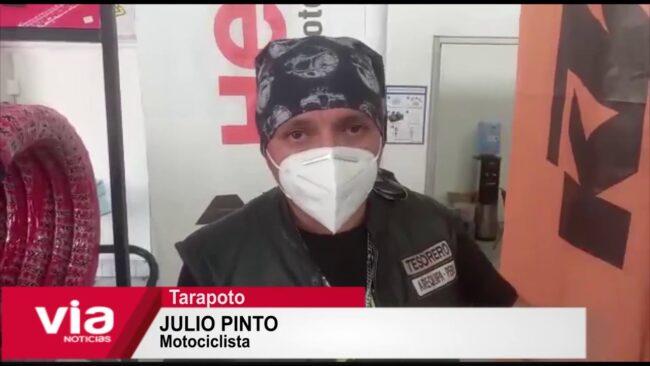 Motociclistas arequipeños llegan a Tarapoto y visitan tienda Socopur