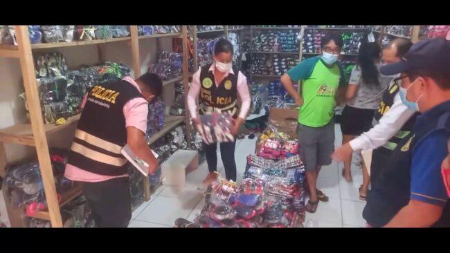 Tarapoto: intervienen tiendas de calzado por presunto uso indebido de marcas